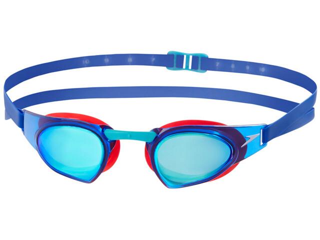 speedo Fastskin Prime Mirror Svømmebriller rød/blå | swim_clothes
